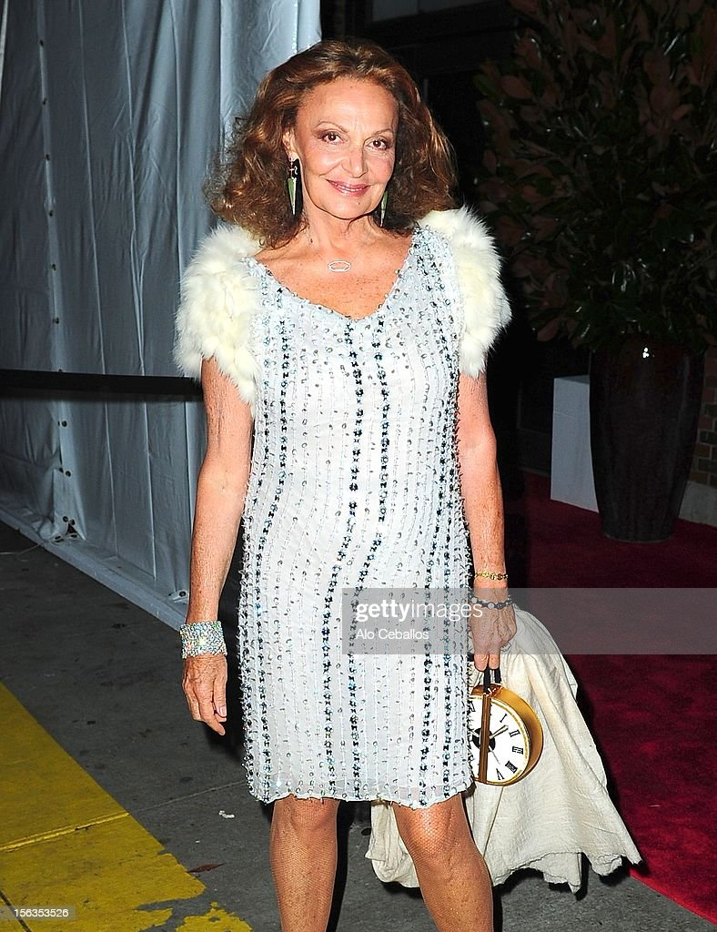 Diane von Furstenberg attends the 9th annual CFDA/Vogue Fashion Fund Awards at Center 548 on November 13, 2012 in New York City.