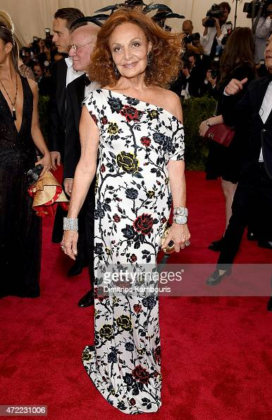 Diane von Furstenberg attends the 'China Through The Looking Glass' Costume Institute Benefit Gala at the Metropolitan Museum of Art on May 4 2015 in...