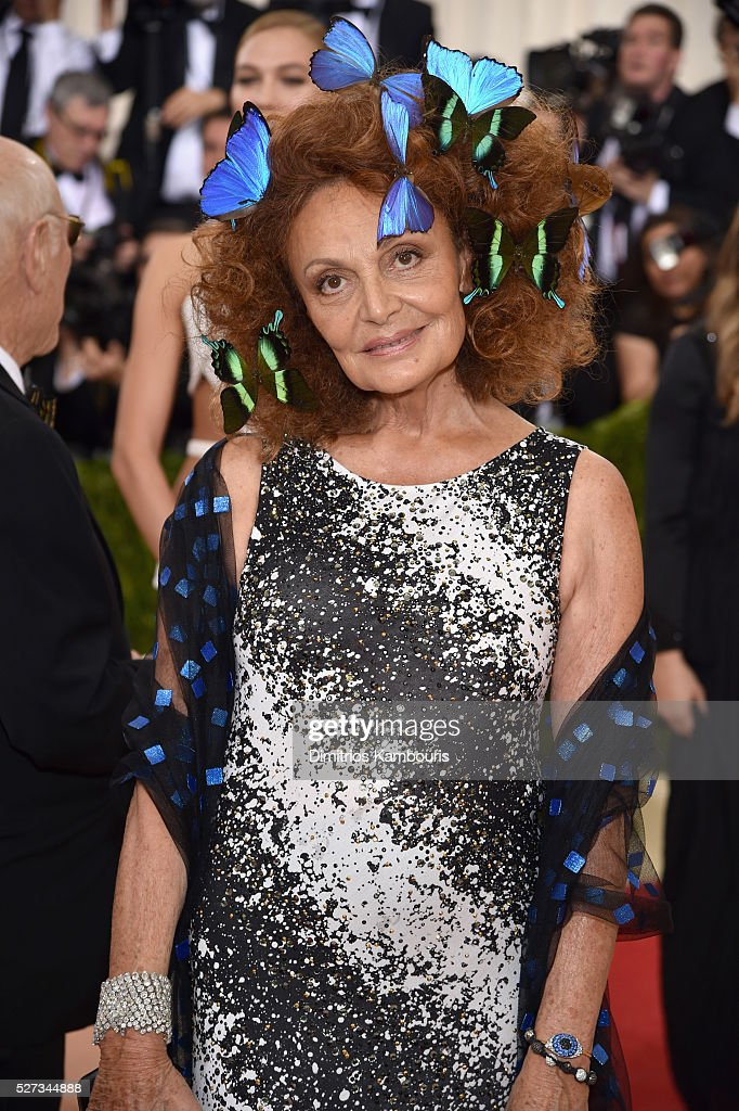 Diane von Furstenberg attends the 'Manus x Machina: Fashion In An Age Of Technology' Costume Institute Gala at Metropolitan Museum of Art on May 2, 2016 in New York City.