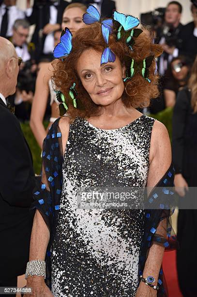 Diane von Furstenberg attends the 'Manus x Machina Fashion In An Age Of Technology' Costume Institute Gala at Metropolitan Museum of Art on May 2...