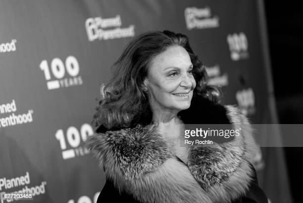 Diane von Furstenberg attends the Planned Parenthood 100th Anniversary Gala at Pier 36 on May 2 2017 in New York City