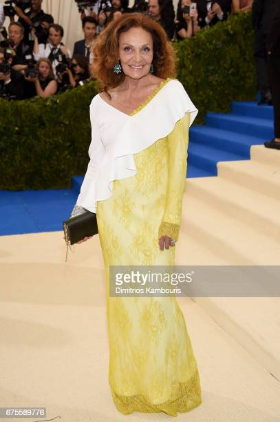 Diane von Furstenberg attends the 'Rei Kawakubo/Comme des Garcons Art Of The InBetween' Costume Institute Gala at Metropolitan Museum of Art on May 1...