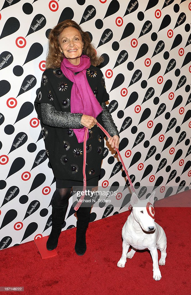 Diane Von Furstenberg attends the Target + Neiman Marcus Holiday Collection launch on November 28, 2012 in New York City.