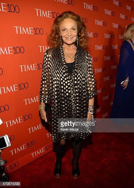 Diane von Furstenberg attends TIME 100 Gala TIME's 100 Most Influential People In The World at Jazz at Lincoln Center on April 21 2015 in New York...