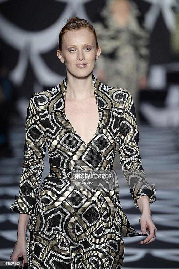 Diane von Furstenberg Autumn Winter 2014 fashion show during New York Fashion Week on February 9, 2014 in New York, United States.