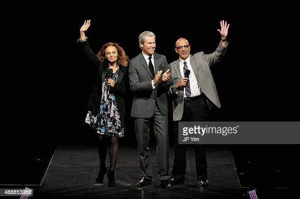 Diane von Furstenberg Chairman and CEO of Macy's INC Terry Lundgren and Tom Viola attend Macy's Presents Fashion's Front Row at The Theater at...