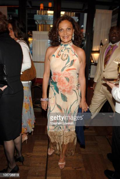 Diane Von Furstenberg during MAC Cosmetics Hosts Launch Party for Andre Leon Talley's New Book 'ALT 365' at La Grenouille in New York City New York...