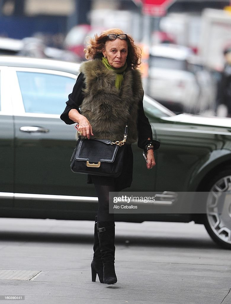 Diane Von Furstenberg is seen in the Meat Packing District on January 30, 2013 in New York City.