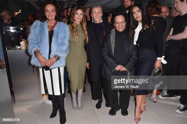 Diane von Furstenberg Miroslava Duma Carla Sozzani Azzedine Alaia and Salma Hayek attend Fashion Tech Lab launch event hosted by Miroslava Duma and...