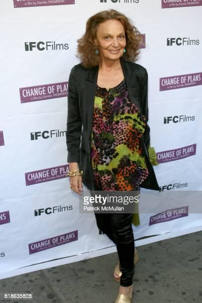 Diane von Furstenburg attends The New York Premiere of 'CHANGE OF PLANS' at IFC Center on June 8 2010 in New York City