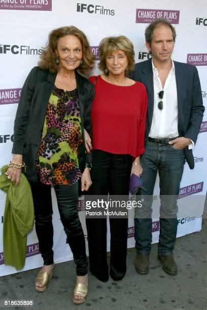 Diane von Furstenburg DaniËle Thompson and Christopher Thompson attend The New York Premiere of 'CHANGE OF PLANS' at IFC Center on June 8 2010 in New...