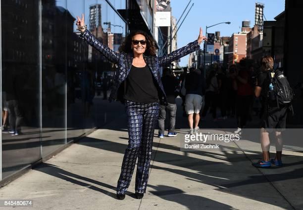 Diane Von Furstenburg is seen outside the DVF show during New York Fashion Week Women's S/S 2018 on September 10 2017 in New York City