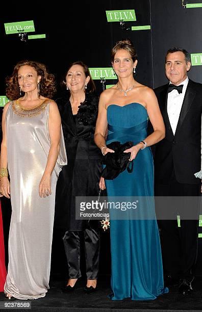 Diane Von Fustemberg Nieves Fontana Princess Elena of Spain and designer Angel Schlesser arrive to the 2009 Telva Magazine Fashion Awards ceremony...