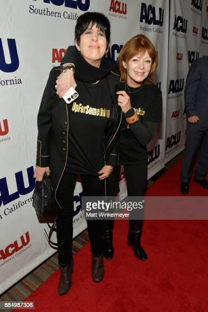 Diane Warren and Frances Fisher attend ACLU SoCal Hosts Annual Bill of Rights Dinner at the Beverly Wilshire Four Seasons Hotel on December 3 2017 in...