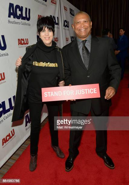 Diane Warren and honoree Reginald Hudlin attend ACLU SoCal Hosts Annual Bill of Rights Dinner at the Beverly Wilshire Four Seasons Hotel on December...