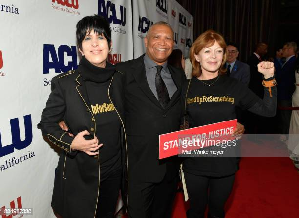 Diane Warren honoree Reginald Hudlin and Frances Fisher attend ACLU SoCal Hosts Annual Bill of Rights Dinner at the Beverly Wilshire Four Seasons...
