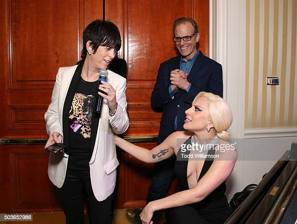 Diane Warren Lady Gaga and Kirby Dick attend a screening and reception at The Peninsula Beverly Hills Of The Documentary 'THE HUNTING GROUND' at...