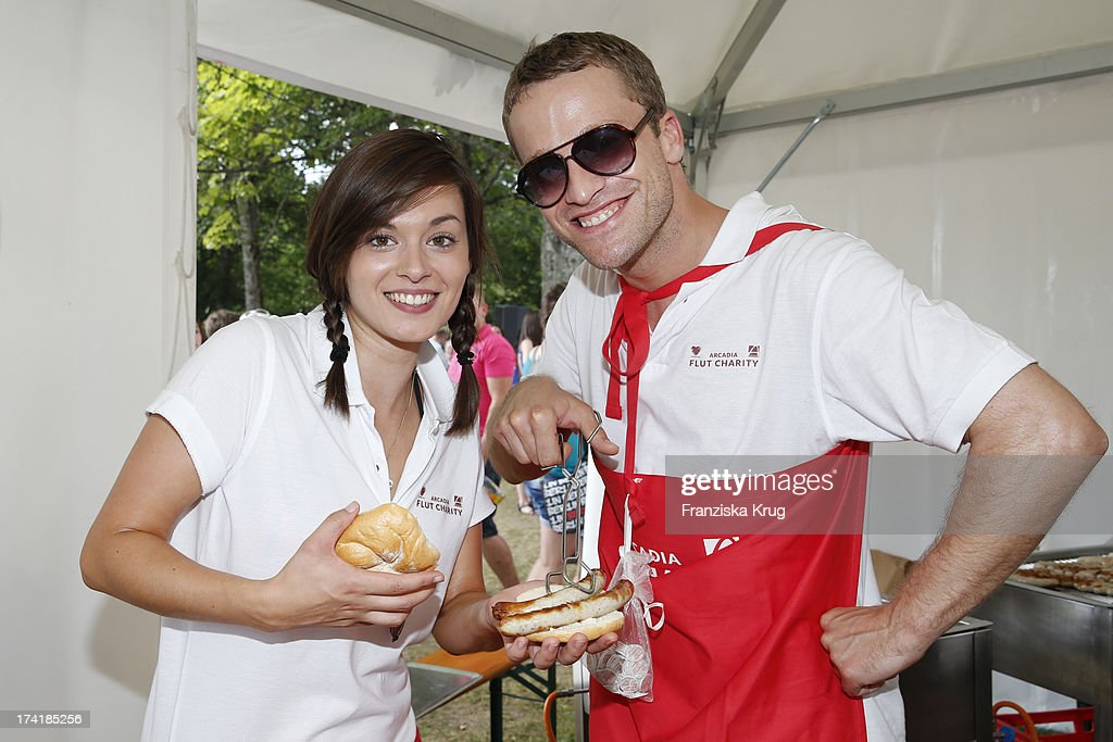 Diane Willems and Dominic Saleh-Zaki attend the Charity Event Benefitting Flood Victims on July 20, 2013 in Grafenau, Germany.