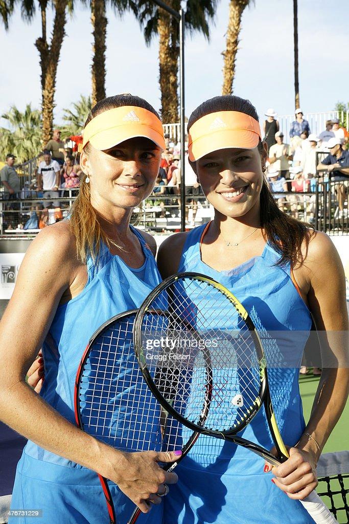 Dianela Hantuchova and Ana Ivanovic attends the 10th Anniversary Desert Smash at La Quinta Resort and Club on March 4 2014 in La Quinta California