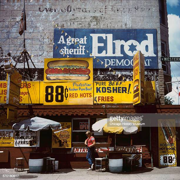 Diane's Chicago hot dog stand on Western Avenue in Chicago Illinois 1987