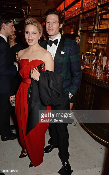 Dianna Agron and James Norton attend The Weinstein Company Entertainment Film Distributor StudioCanal 2015 BAFTA After Party in partnership with...
