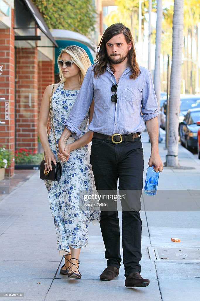 Dianna Agron and Winston Marshall are seen on October 02 2015 in Los Angeles California