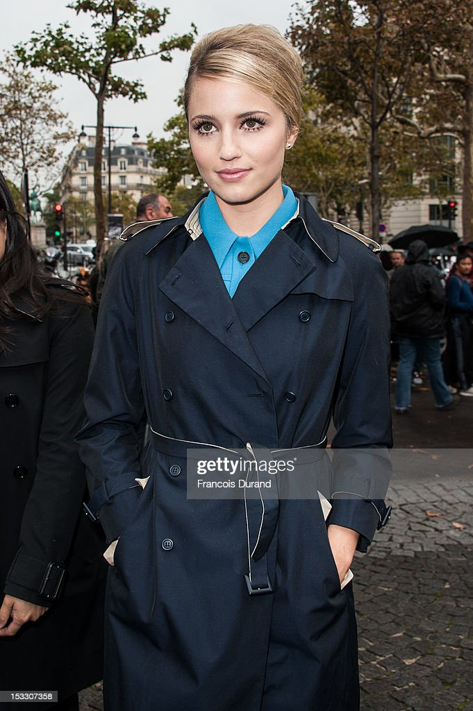 Dianna Agron arrives at the Miu Miu Spring/Summer 2013 show as part of Paris Fashion Week on October 3, 2012 in Paris, France.