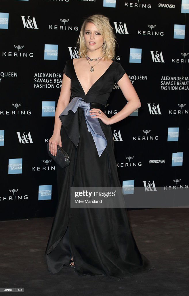 Dianna Agron attends a private view for the 'Alexander McQueen Savage Beauty' exhibition at Victoria Albert Museum on March 12 2015 in London England