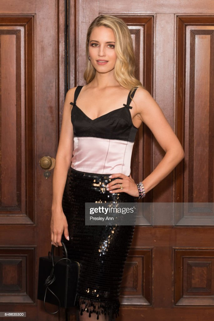 Dianna Agron attends Marc Jacobs Spring 2018 Show - Red Carpet at Park Avenue Armory on September 13, 2017 in New York City.