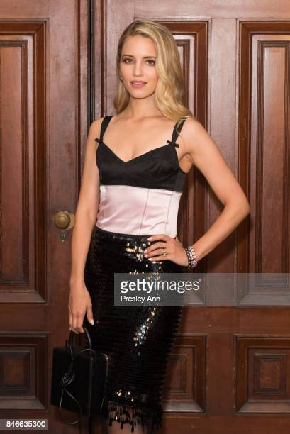 Dianna Agron attends Marc Jacobs Spring 2018 Show Red Carpet at Park Avenue Armory on September 13 2017 in New York City
