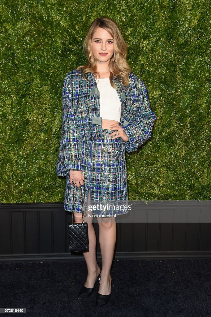 Dianna Agron attends the CHANEL Tribeca Film Festival Artists Dinner at Balthazar on April 24, 2017 in New York City.