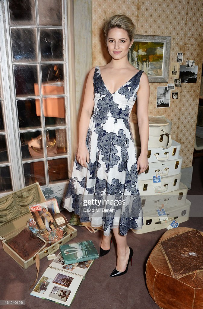 Dianna Agron attends the Erdem show during London Fashion Week Fall/Winter 2015/16 at Old Selfridges Hotel on February 23 2015 in London England