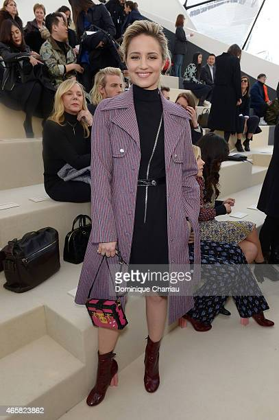 Dianna Agron attends the Louis Vuitton show as part of the Paris Fashion Week Womenswear Fall/Winter 2015/2016 on March 11 2015 in Paris France