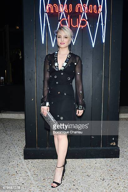 Dianna Agron attends the Miu Miu Club Launch Of the First Miu Miu Fragrance And Croisiere 2016 Collection at Palais d'Iena on July 4 2015 in Paris...