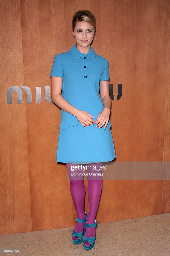 Dianna Agron attends the Miu Miu Spring/Summer 2013 show as part of Paris Fashion Week on October 3, 2012 in Paris, France.