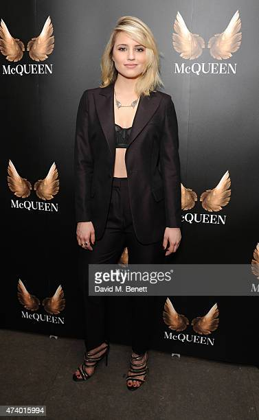 Dianna Agron attends the press night performance of 'McQueen' at the St James Theatre on May 19 2015 in London England