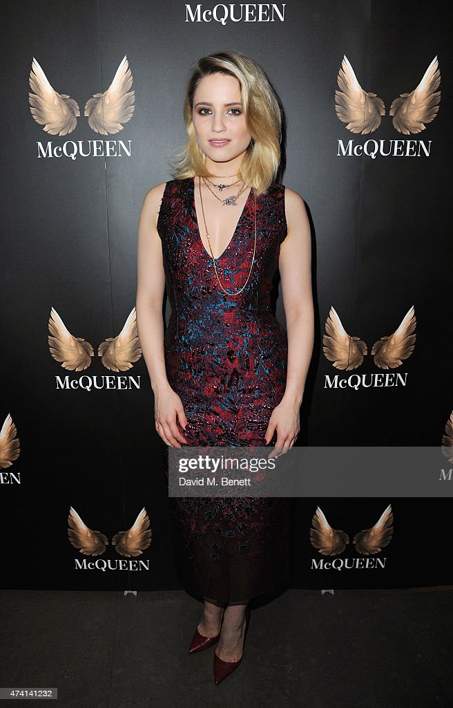 Dianna Agron attends the press night performance of 'McQueen' at the St James Theatre on May 20 2015 in London England