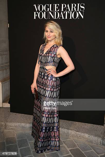 Dianna Agron attends The Vogue Paris Foundation Gala at Palais Galliera on July 6 2015 in Paris France