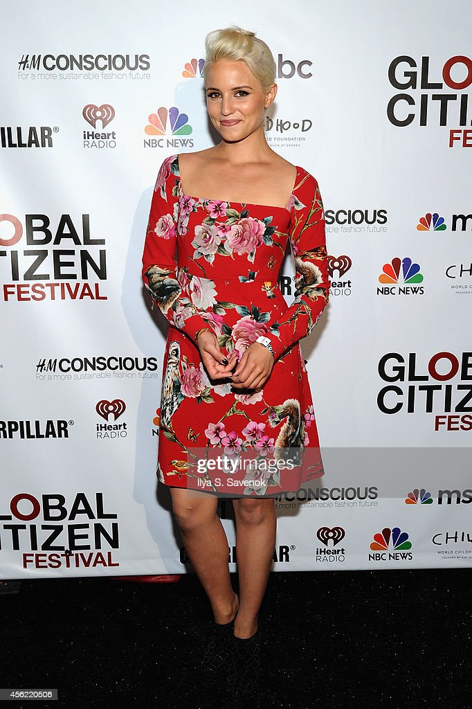 Dianna Agron attends VIP Lounge at the 2014 Global Citizen Festival to end extreme poverty by 2030 in Central Park on September 27 2014 in New York...