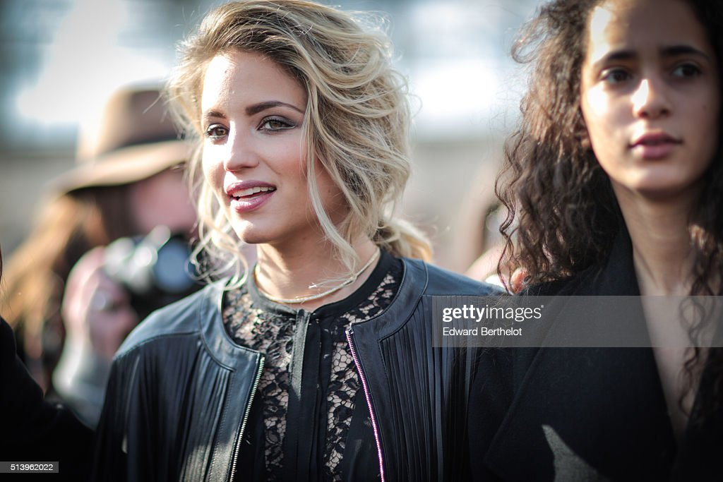 Dianna Agron is seen before the Elie Saab show during Paris Fashion Week Womenswear Fall Winter 2016/2017 on March 5 2016 in Paris France