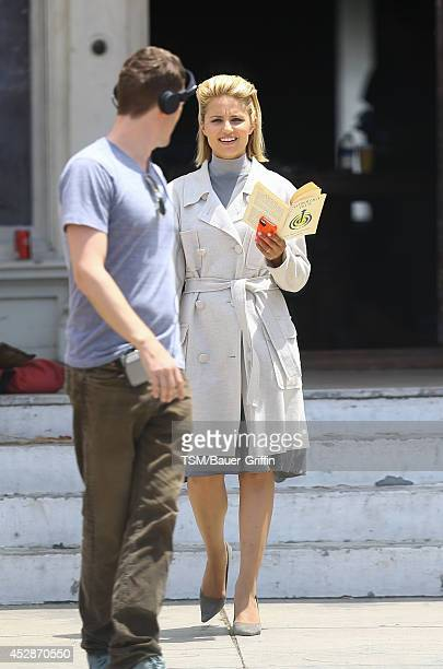 Dianna Agron is seen on set of 'Headlock' on July 28 2014 in Los Angeles California
