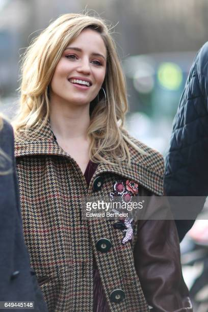 Dianna Agron is seen outside the Miu Miu show during Paris Fashion Week Womenswear Fall/Winter 2017/2018 on March 7 2017 in Paris France