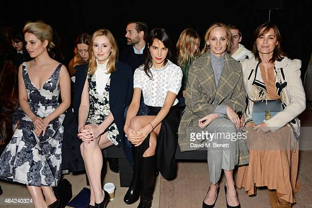 Dianna Agron Laura Carmichael Caroline Sieber Lauren Santo Domingo and Yasmin Le Bon attend the Erdem show during London Fashion Week Fall/Winter...