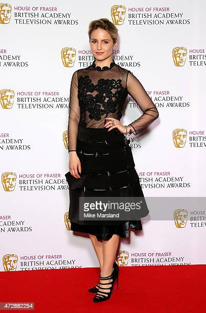 Dianna Agron poses in the winners room at the House of Fraser British Academy Television Awards at Theatre Royal on May 10 2015 in London England