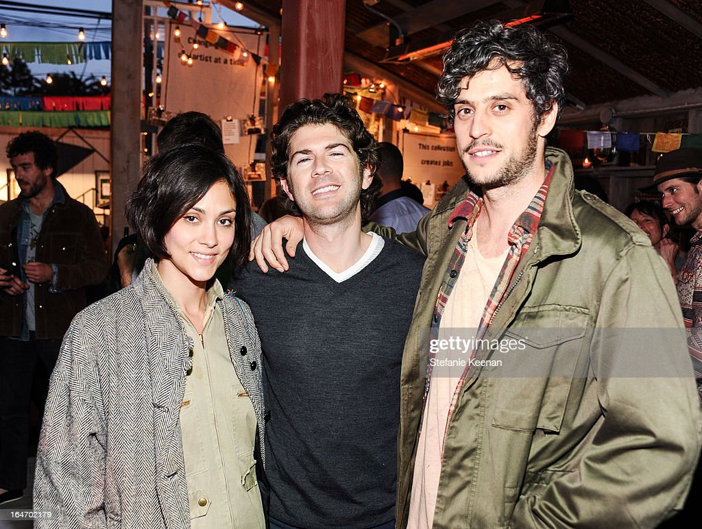 Dianne Garcia, Jordan Glassberg and Greg Rogove attend TOMS And Haitian Activist Bryn Mooser Host A Private Event To Celebrate Haitian Culture at TOMS Flagship Store on March 26, 2013 in Venice, California.
