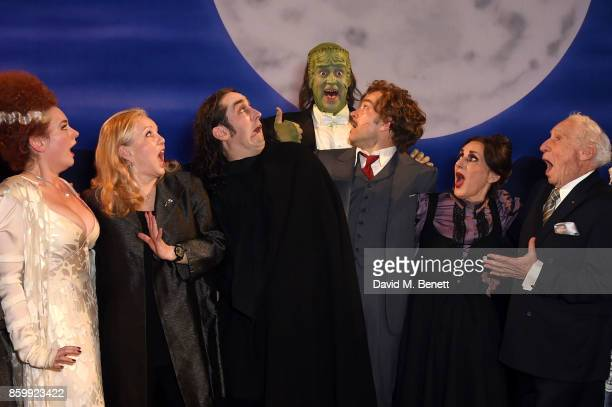 Dianne Pilkington Susan Stroman Ross Noble Shuler Hensley Hadley Fraser Lesley Joseph and Mel Brookes attend the press night performance of 'Mel...