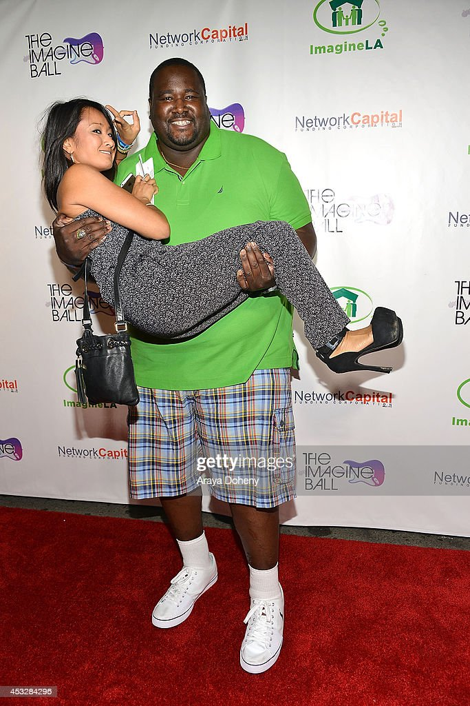 Dianne Quirante and <a gi-track='captionPersonalityLinkClicked' href=/galleries/search?phrase=Quinton+Aaron&family=editorial&specificpeople=6527390 ng-click='$event.stopPropagation()'>Quinton Aaron</a> arrive at The Imagine Ball held at House of Blues Sunset Strip on August 6, 2014 in West Hollywood, California.