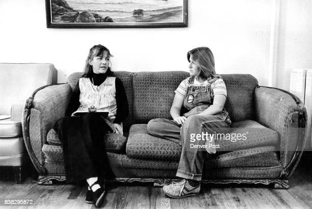 Dianne Smith and Karen Stewart chat about progress in Self Center program for female abusers of alcohol and drugs Credit Denver Post