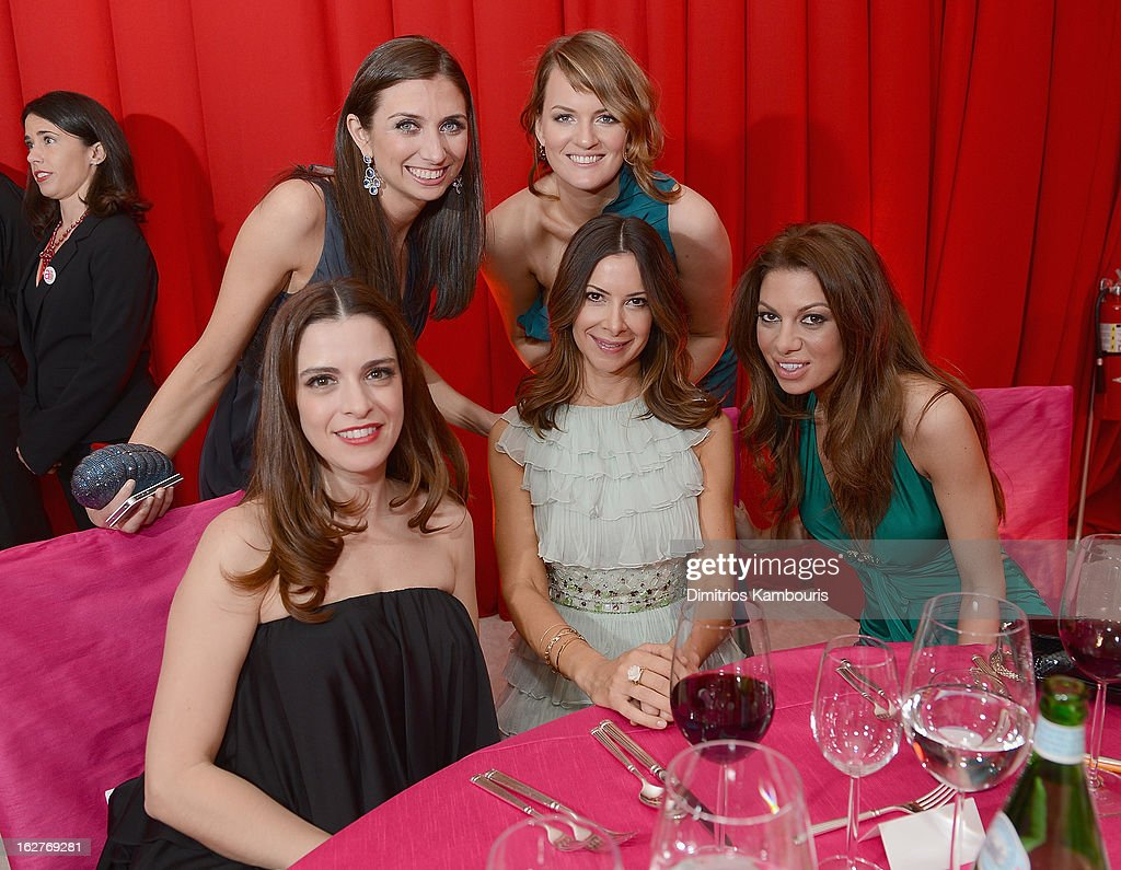 Dianne Vavra (C) and guests attend the 21st Annual Elton John AIDS Foundation Academy Awards Viewing Party at West Hollywood Park on February 24, 2013 in West Hollywood, California.