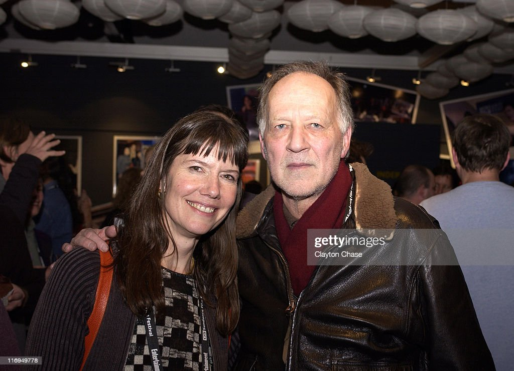 Dianne Weyerman and Werner Herzog during 2005 Sundance Film Festival Alfred P Sloan Foundation Reception at Kimball Arts Center in Park City Utah...